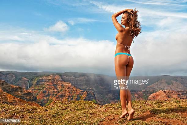 Swimsuit Issue 2015 Model Irina Shayk poses for the 2015 Sports Illustrated Swimsuit issue on April 29 2014 in Kauai Hawaii Swimsuit by San Lorenzo...