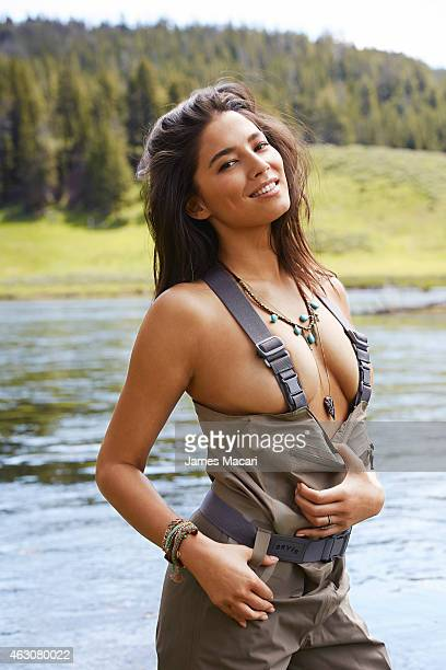 Swimsuit Issue 2015 Model Jessica Gomes poses for the 2015 Sports Illustrated Swimsuit issue on June 21 2014 in Yellowstone National Park in Wyoming...