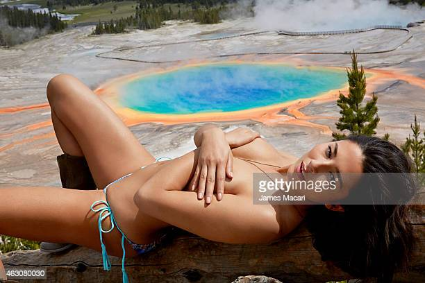 Swimsuit Issue 2015 Model Jessica Gomes poses for the 2015 Sports Illustrated Swimsuit issue on June 22 2014 in Yellowstone National Park in Wyoming...