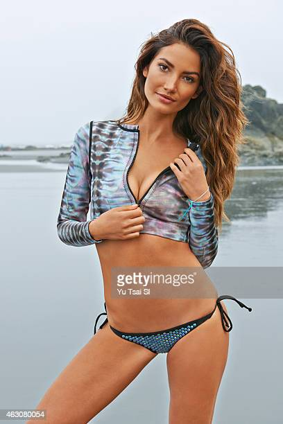 Swimsuit Issue 2015 Model Lily Aldridge poses for the 2015 Sports Illustrated Swimsuit issue on July 12 2014 in the United States Top by Dakine and...