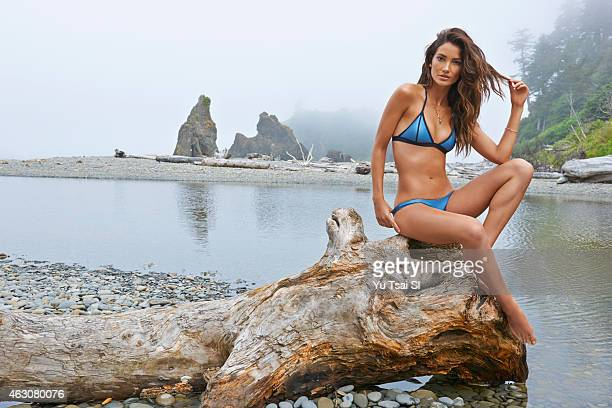 Swimsuit Issue 2015 Model Lily Aldridge poses for the 2015 Sports Illustrated Swimsuit issue on July 12 2014 in the United States Swimsuit by Dakine...