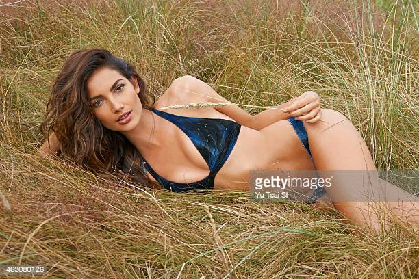 Swimsuit Issue 2015 Model Lily Aldridge poses for the 2015 Sports Illustrated Swimsuit issue on July 14 2014 in the United States Swimsuit by Lucky...