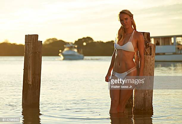 Swimsuit Issue 2015 Tennis player Caroline Wozniacki poses for the 2015 Sports Illustrated Swimsuit issue on November 13 2014 at South Seas Island...