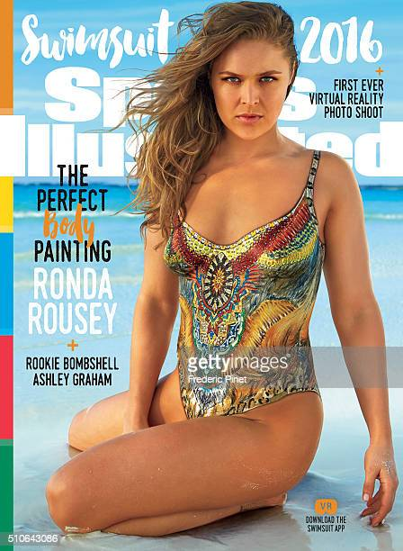 Mixed martial artist and actress Ronda Rousey poses for the cover of the 2016 Sports Illustrated swimsuit issue on November 26 2015 in Saint Vincent...