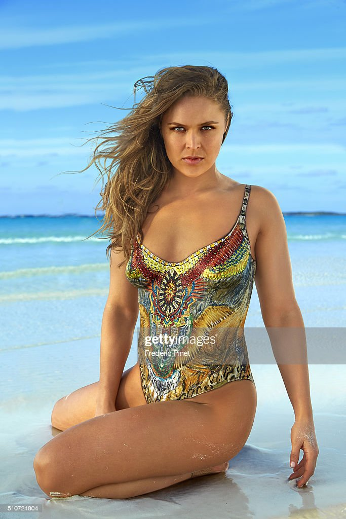 Mixed martial artist and actress Ronda Rousey poses for the 2016 Sports Illustrated swimsuit issue on November 26, 2015 in Saint Vincent and The Grenadines. Body painting by Joanne Gair. COVER IMAGE.