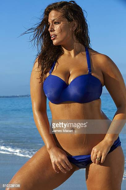 Model Ashley Graham poses for the 2016 Sports Illustrated swimsuit issue on December 11 2015 in Turks and Caicos PUBLISHED IMAGE CREDIT MUST READ...