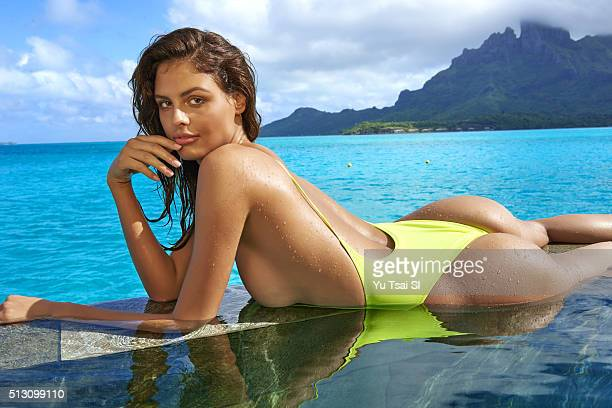 Model Bo Krsmanovic poses for the 2016 Sports Illustrated Swimsuit issue on August 26 2015 in BoraBora PUBLISHED IMAGE CREDIT MUST READ Yu...