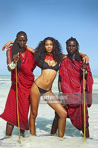 Model Chanel Iman poses for the 2016 Sports Illustrated Swimsuit issue on July 20 2015 in Zanzibar PUBLISHED IMAGE CREDIT MUST READ Ruven...