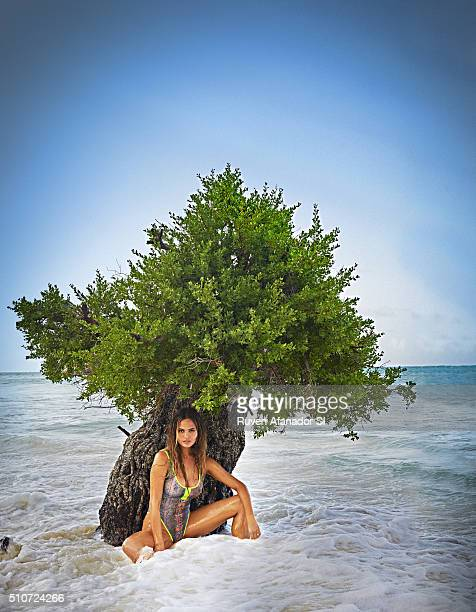 Model Chrissy Teigen poses for the 2016 Sports Illustrated Swimsuit issue on July 18 2015 in Zanzibar PUBLISHED IMAGE CREDIT MUST READ Ruven...