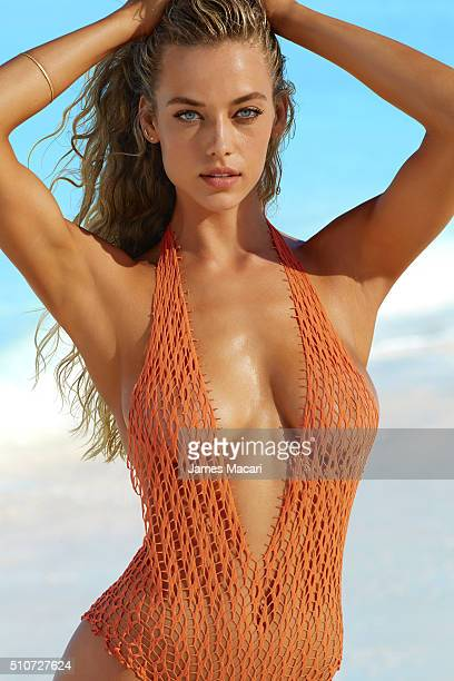 Model Hannah Ferguson poses for the 2016 Sports Illustrated swimsuit issue on December 6 2015 in Turks and Caicos PUBLISHED IMAGE CREDIT MUST READ...