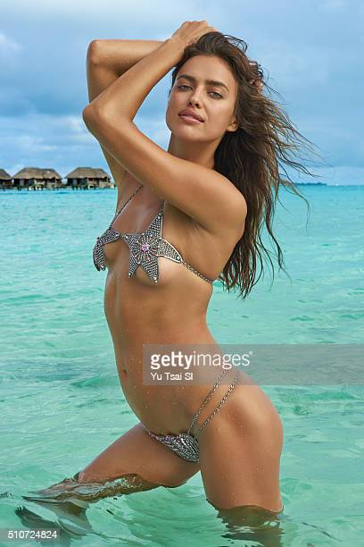 Model Irina Shayk poses for the 2016 Sports Illustrated Swimsuit issue on August 23 2015 in Tahiti PUBLISHED IMAGE CREDIT MUST READ Yu Tsai/Sports...