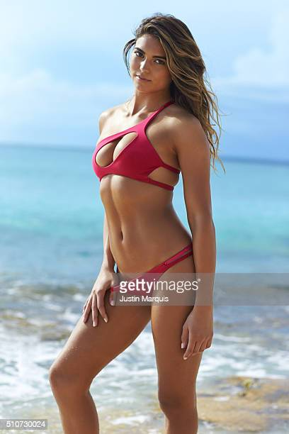 Model Kyra Santoro poses for the 2016 Sports Illustrated Swimsuit issue on October 13 2015 in the Dominican Republic PUBLISHED IMAGE CREDIT MUST READ...