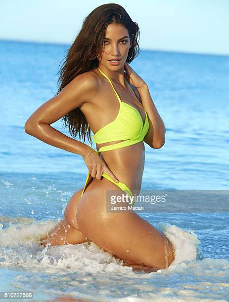 Model Lily Aldridge poses for the 2016 Sports Illustrated swimsuit issue on December 2 2015 in Turks and Caicos PUBLISHED IMAGE CREDIT MUST READ...