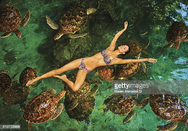 Model Nina Agdal poses for the 2016 Sports Illustrated Swimsuit issue on July 15 2015 in Zanzibar PUBLISHED IMAGE CREDIT MUST READ Ruven...