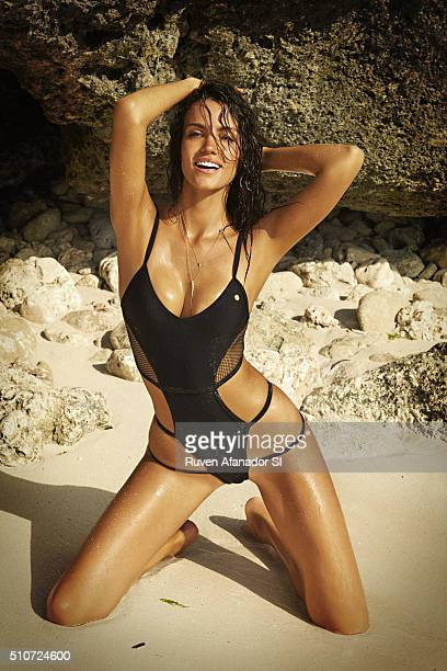 Model Sofia Resing poses for the 2016 Sports Illustrated Swimsuit issue on July 23 2015 in Zanzibar PUBLISHED IMAGE CREDIT MUST READ Ruven...