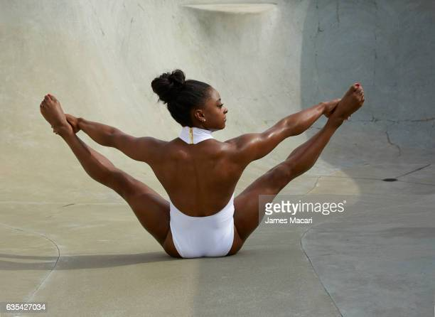 Gymnast Simone Biles poses for the 2017 Sports Illustrated swimsuit issue on September 27 2016 in Houston Texas PUBLISHED IMAGE CREDIT MUST READ...