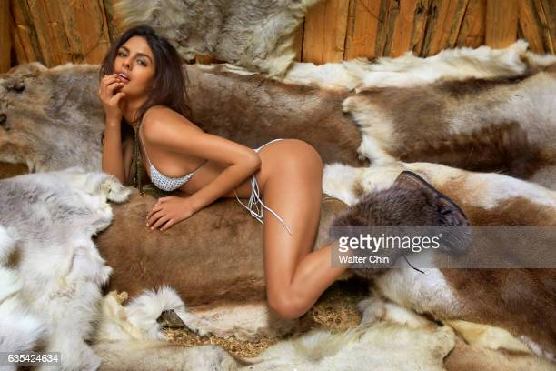 Model Bo Krsmanovic poses for the 2017 Sports Illustrated swimsuit issue on April 15 2016 in Lapland Finland PUBLISHED IMAGE CREDIT MUST READ Walter...