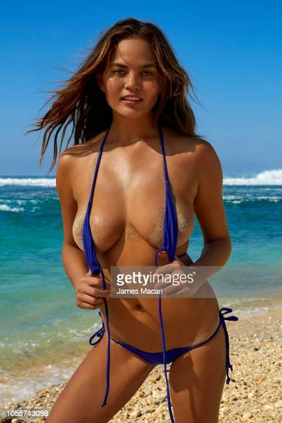 Model Chrissy Teigen poses for the 2017 Sports Illustrated swimsuit issue on October 10 2016 on Sumba Island Bali Indonesia PUBLISHED IMAGE CREDIT...