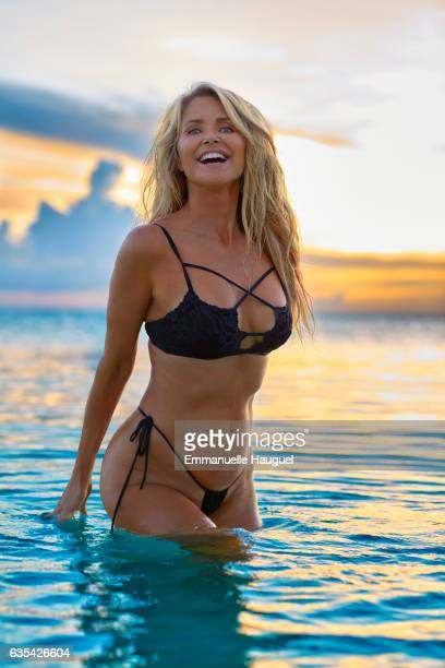 Model Christie Brinkley poses for the 2017 Sports Illustrated swimsuit issue on September 12 2016 on Turks Caicos Islands PUBLISHED IMAGE CREDIT MUST...