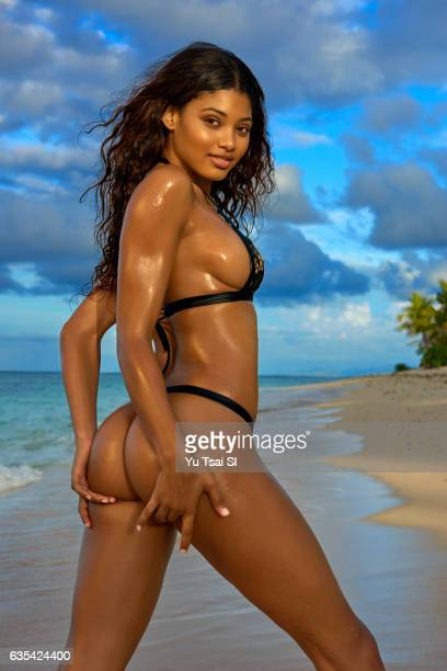 Model Danielle Herrington poses for the 2017 Sports Illustrated swimsuit issue on November 10 2016 in Fiji PUBLISHED IMAGE CREDIT MUST READ Yu...