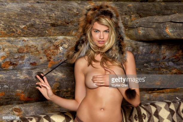 Model Hailey Clauson poses for the 2017 Sports Illustrated swimsuit issue on April 19 2016 in Lapland Finland PUBLISHED IMAGE CREDIT MUST READ Walter...