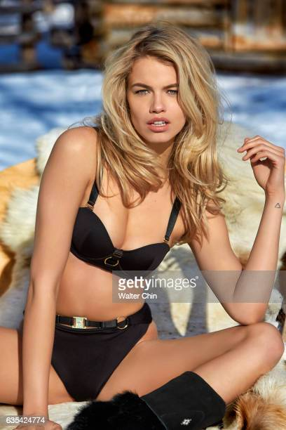 Model Hailey Clauson poses for the 2017 Sports Illustrated swimsuit issue on April 22 2016 in Lapland Finland PUBLISHED IMAGE CREDIT MUST READ Walter...
