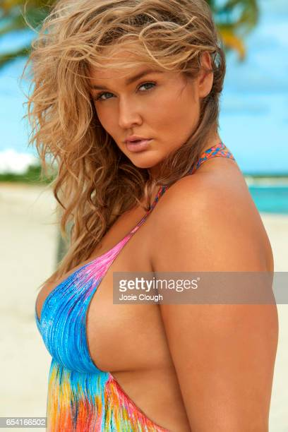 Model Hunter McGrady poses for the 2017 Sports Illustrated swimsuit issue on January 4 2017 on Anguilla Body painting by Joanne Gair PUBLISHED IMAGE...