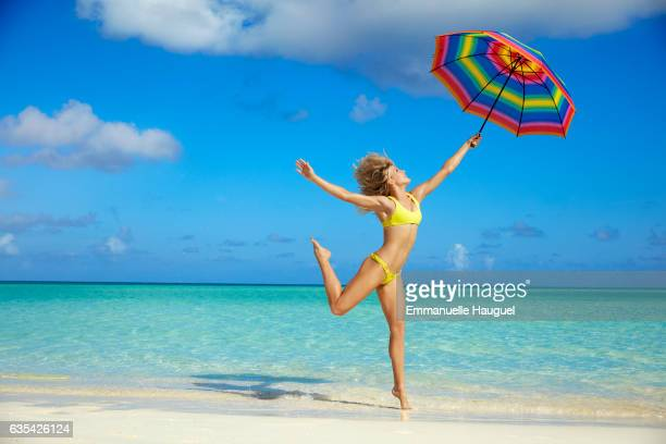 Tennis player Genie Bouchard poses for the 2017 Sports Illustrated swimsuit issue on September 12 2016 on Turks Caicos Islands PUBLISHED IMAGE CREDIT...