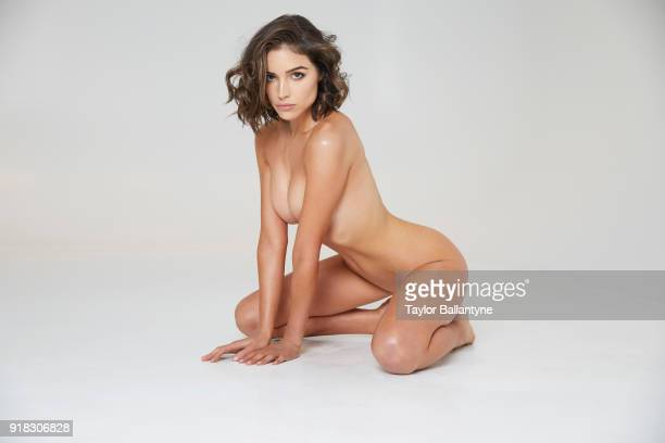 Actress Olivia Culpo poses for the 2018 Sports Illustrated swimsuit issue 'In Her Own Words' body painting on December 18 2017 at the Foundry in...