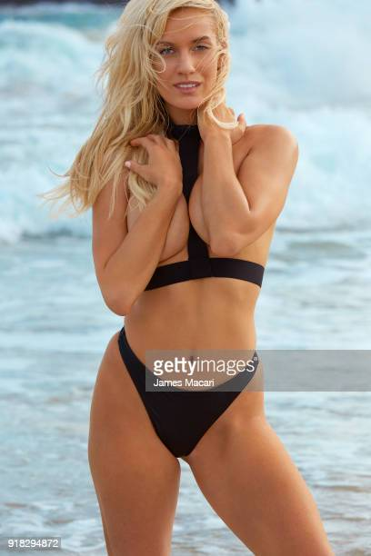 Golfer Paige Spiranac poses for the 2018 Sports Illustrated swimsuit issue on November 10 2017 in Aruba PUBLISHED IMAGE CREDIT MUST READ James...