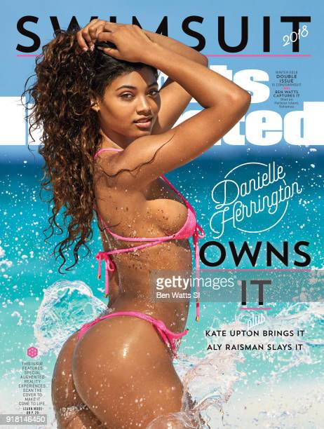 Model Danielle Herrington poses for the 2018 Sports Illustrated swimsuit issue cover on August 20 2017 on Harbour Island Bahamas COVER IMAGE CREDIT...