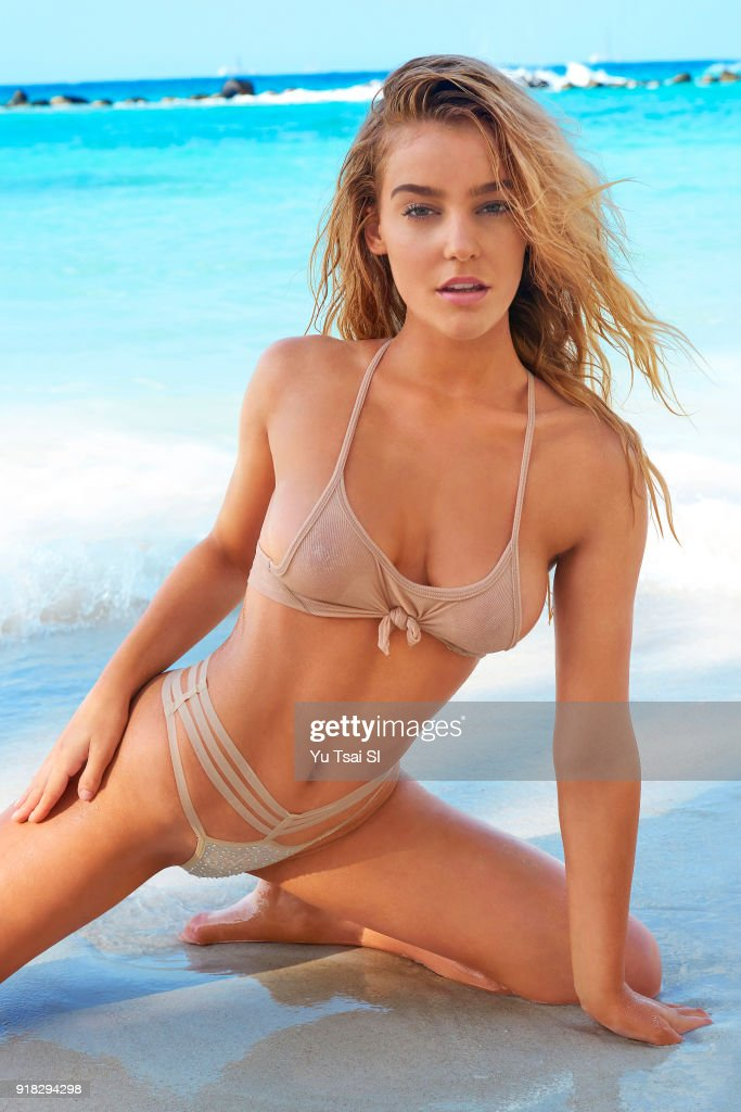 sports gibbs georgia illustrated swimsuit poses getty issue