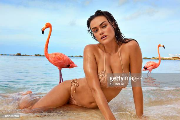 Model Myla Dalbesio poses for the 2018 Sports Illustrated swimsuit issue on October 10 2017 in Aruba PUBLISHED IMAGE CREDIT MUST READ Yu Tsai/Sports...