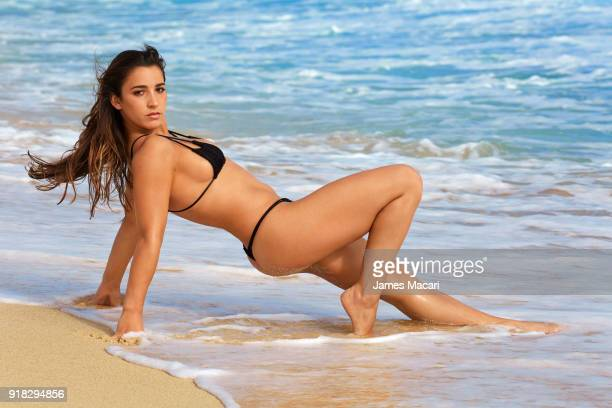 Olympic gymnast Aly Raisman poses for the 2018 Sports Illustrated swimsuit issue on November 11 2017 in Aruba PUBLISHED IMAGE CREDIT MUST READ James...