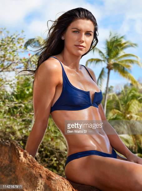 Swimsuit Issue 2019 Soccer player Alex Morgan poses for the 2019 Sports Illustrated swimsuit issue on March 12 2019 in Saint Lucia COVER IMAGE CREDIT...
