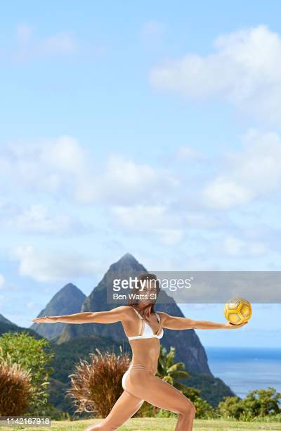 Swimsuit Issue 2019 Soccer player Alex Morgan poses for the 2019 Sports Illustrated swimsuit issue on March 12 2019 in Saint Lucia PUBLISHED IMAGE...