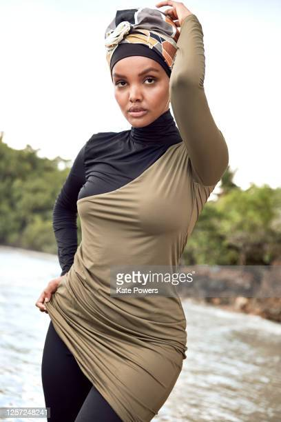 Swimsuit Issue 2020: Model Halima Aden poses for the 2020 Sports Illustrated swimsuit issue on February 4, 2020 in the Dominican Republic. CREDIT...