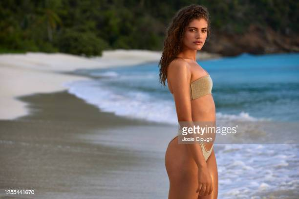 Swimsuit Issue 2020 Model Valentina Sampaio poses for the 2020 Sports Illustrated swimsuit issue on January 8 2020 on Scrub Island in the British...