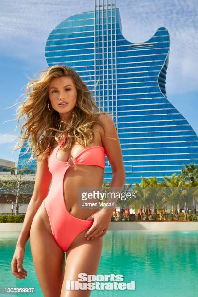 Swimsuit Issue 2021: Model/nurse Maggie Rawlins poses for the 2021 Sports Illustrated swimsuit issue on January 12, 2021 in Hollywood, Florida....