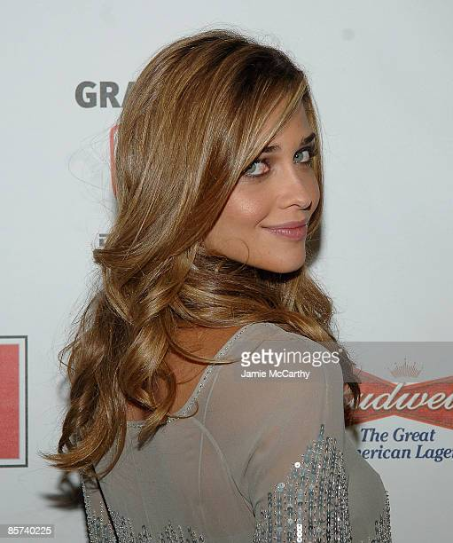 Swimsuit model Ana Beatriz Barros attends The Sports Illustrated Unveils 2008 Swimsuit Issue Press Conference at 7 World Trade Center on February...