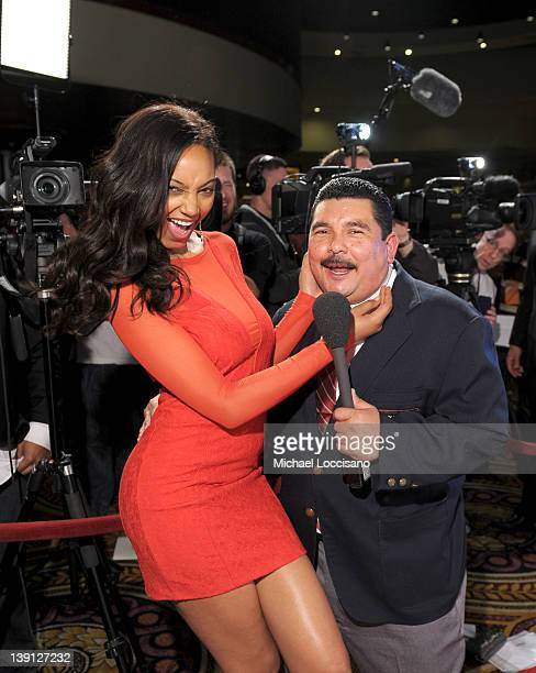 SI swimsuit model Ariel Meredith and Guillermo Rodriguez arrive at Club SI Swimsuit hosted by the Pure Nightclub at Caesars Palace at the Pure...