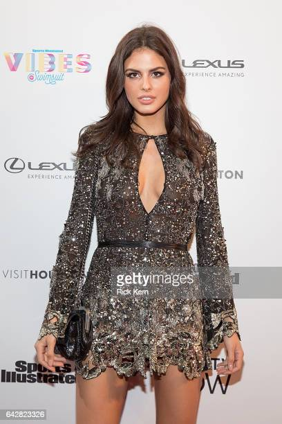 Swimsuit model Bo Krsmanovic attends the VIBES by Sports Illustrated Swimsuit 2017 launch festival on February 18 2017 in Houston Texas
