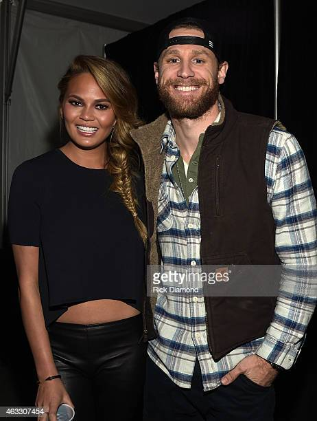 Swimsuit Model Chrissy Teigen and Singer/Songwriter Chase Rice attend the 2015 Sports Illustrated Swimsuit's Swimville Takes Over Nashville Day 2 on...