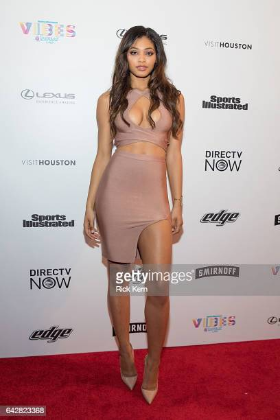 Swimsuit model Danielle Herrington attends the VIBES by Sports Illustrated Swimsuit 2017 launch festival on February 18 2017 in Houston Texas