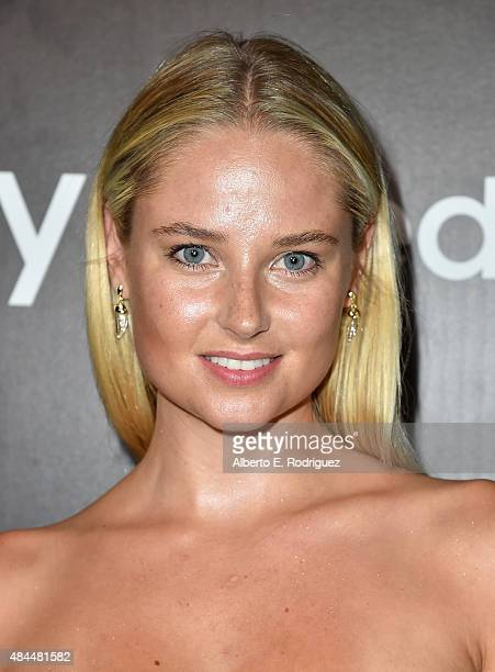 Swimsuit model Genevieve Morton attends the Samsung Galaxy S6 Edge Plus and Note 5 Launch party on August 18 2015 in West Hollywood California