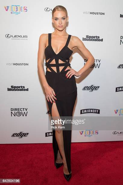 Swimsuit model Hannah Ferguson attends the VIBES by Sports Illustrated Swimsuit 2017 launch festival at Post HTX on February 17, 2017 in Houston,...