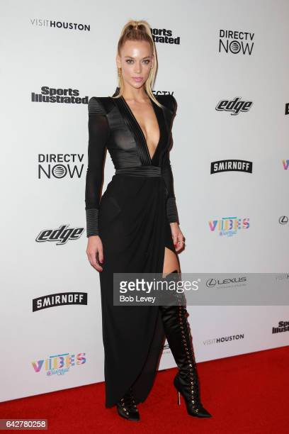 Swimsuit model Hannah Ferguson attends the VIBES by Sports Illustrated Swimsuit 2017 launch festival at Post HTX on February 18 2017 in Houston Texas