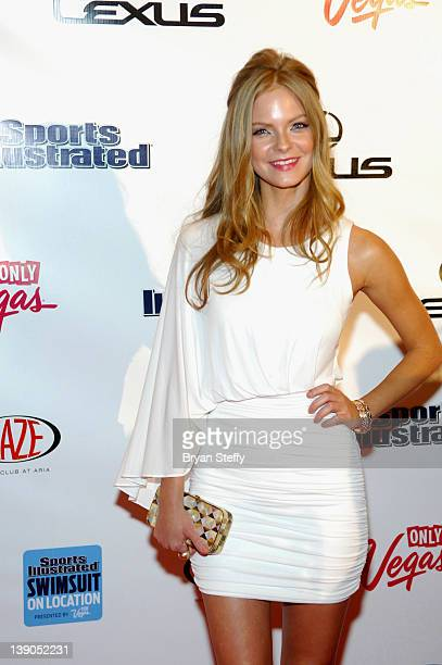 SI swimsuit model Jessica Perez arrives at the Sports Illustrated Swimsuit Models on Location hosted by HAZE Nightclub at ARIA Resort Casino at City...