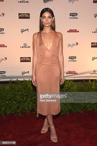 Swimsuit model Lily Aldridge attends the Sports Illustrated 2015 Swimsuit Takes Over Nashville With Kings of Leon event on February 11 2015 in...