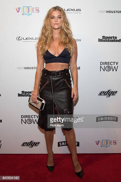 Swimsuit model Nina Agdal attends the VIBES by Sports Illustrated Swimsuit 2017 launch festival at Post HTX on February 17 2017 in Houston Texas